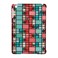 Red and green squares Apple iPad Mini Hardshell Case (Compatible with Smart Cover)