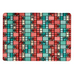 Red and green squares Samsung Galaxy Tab 10.1  P7500 Flip Case