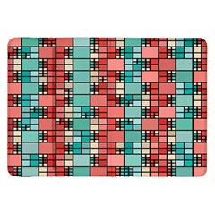 Red and green squares Samsung Galaxy Tab 8.9  P7300 Flip Case