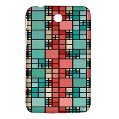 Red and green squares Samsung Galaxy Tab 3 (7 ) P3200 Hardshell Case