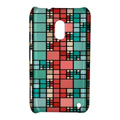 Red And Green Squares Nokia Lumia 620 Hardshell Case