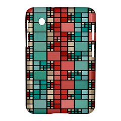 Red And Green Squares Samsung Galaxy Tab 2 (7 ) P3100 Hardshell Case