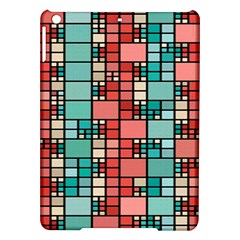 Red and green squares Apple iPad Air Hardshell Case