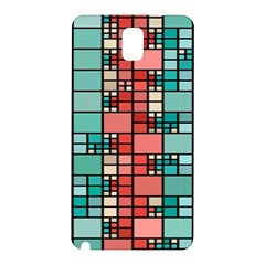 Red And Green Squares Samsung Galaxy Note 3 N9005 Hardshell Back Case