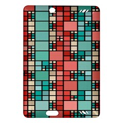 Red And Green Squares Kindle Fire Hd (2013) Hardshell Case