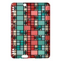 Red And Green Squares Kindle Fire Hdx Hardshell Case