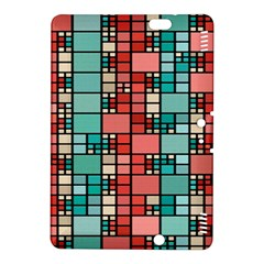 Red and green squares Kindle Fire HDX 8.9  Hardshell Case
