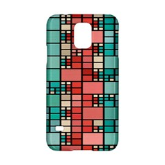 Red and green squares Samsung Galaxy S5 Hardshell Case