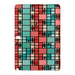 Red and green squares Samsung Galaxy Tab Pro 10.1 Hardshell Case