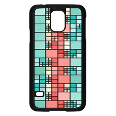 Red And Green Squares Samsung Galaxy S5 Case (black)