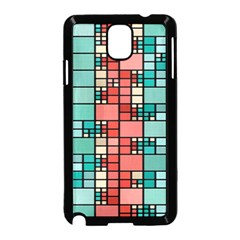 Red And Green Squares Samsung Galaxy Note 3 Neo Hardshell Case (black)