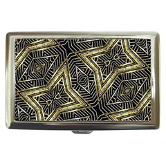 Geometric Tribal Golden Pattern Print Cigarette Money Case