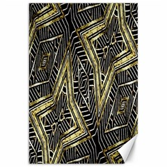 Geometric Tribal Golden Pattern Print Canvas 20  X 30  (unframed)