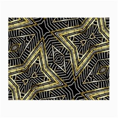 Geometric Tribal Golden Pattern Print Glasses Cloth (Small, Two Sided)