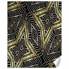 Geometric Tribal Golden Pattern Print Canvas 11  x 14  (Unframed)