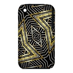 Geometric Tribal Golden Pattern Print Apple iPhone 3G/3GS Hardshell Case (PC+Silicone)
