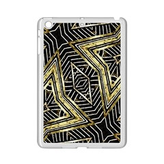 Geometric Tribal Golden Pattern Print Apple Ipad Mini 2 Case (white)