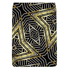 Geometric Tribal Golden Pattern Print Removable Flap Cover (large)