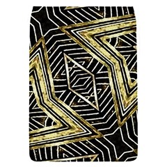 Geometric Tribal Golden Pattern Print Removable Flap Cover (small)