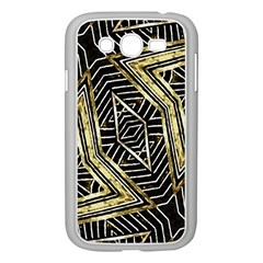 Geometric Tribal Golden Pattern Print Samsung Galaxy Grand DUOS I9082 Case (White)