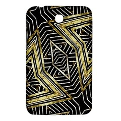 Geometric Tribal Golden Pattern Print Samsung Galaxy Tab 3 (7 ) P3200 Hardshell Case