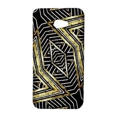 Geometric Tribal Golden Pattern Print HTC Butterfly S Hardshell Case