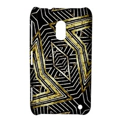 Geometric Tribal Golden Pattern Print Nokia Lumia 620 Hardshell Case