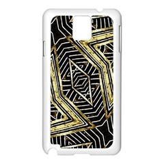 Geometric Tribal Golden Pattern Print Samsung Galaxy Note 3 N9005 Case (White)