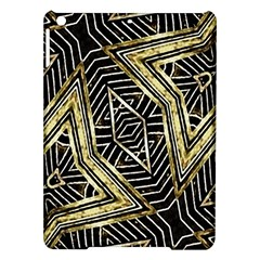 Geometric Tribal Golden Pattern Print Apple Ipad Air Hardshell Case