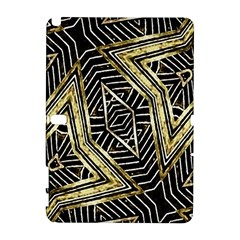 Geometric Tribal Golden Pattern Print Samsung Galaxy Note 10.1 (P600) Hardshell Case