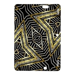 Geometric Tribal Golden Pattern Print Kindle Fire HDX 8.9  Hardshell Case