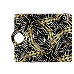 Geometric Tribal Golden Pattern Print Kindle Fire HDX 8.9  Flip 360 Case