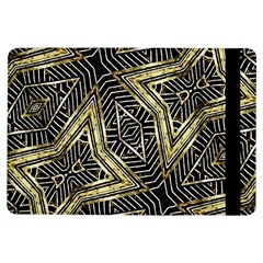 Geometric Tribal Golden Pattern Print Apple iPad Air Flip Case