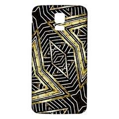 Geometric Tribal Golden Pattern Print Samsung Galaxy S5 Back Case (white)