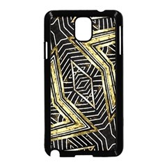 Geometric Tribal Golden Pattern Print Samsung Galaxy Note 3 Neo Hardshell Case (Black)