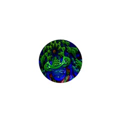 Abstract 1x 1  Mini Button Magnet