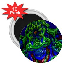 Abstract 1x 2.25  Button Magnet (10 pack)