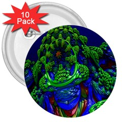 Abstract 1x 3  Button (10 pack)