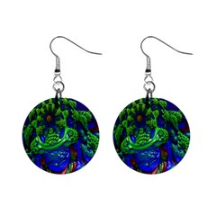 Abstract 1x Mini Button Earrings