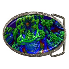 Abstract 1x Belt Buckle (oval)
