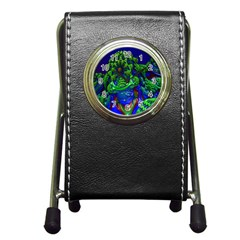 Abstract 1x Stationery Holder Clock
