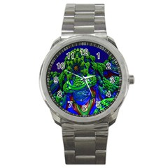 Abstract 1x Sport Metal Watch