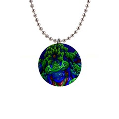 Abstract 1x Button Necklace