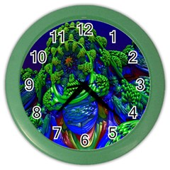 Abstract 1x Wall Clock (color)