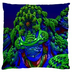 Abstract 1x Large Cushion Case (two Sided)