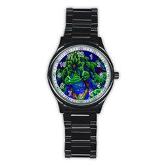 Abstract 1x Sport Metal Watch (Black)