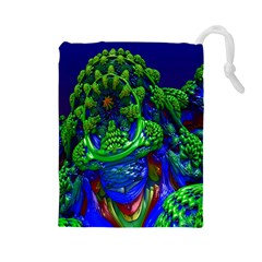 Abstract 1x Drawstring Pouch (Large)