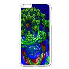 Abstract 1x Apple iPhone 6 Plus Enamel White Case