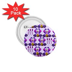 Fms Honey Bear With Spoons 1 75  Button (10 Pack)