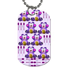 Fms Honey Bear With Spoons Dog Tag (One Sided)
